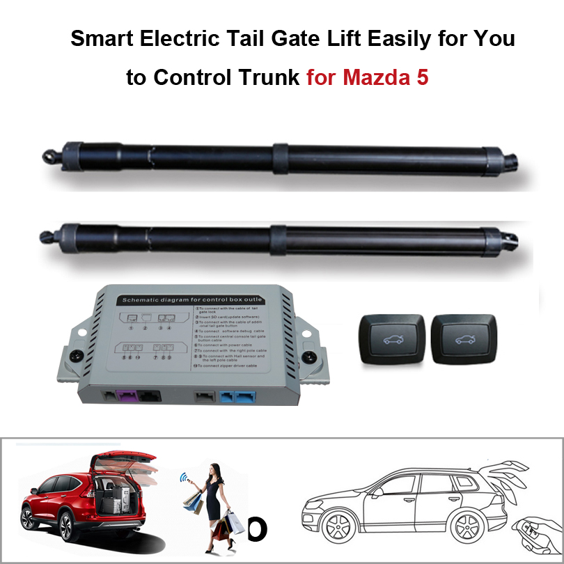 Smart Auto Electric Tail Gate Lift for Mazda 5 Control by Remote Drive Seat Tail Gate Button Set Height Avoid Pinch