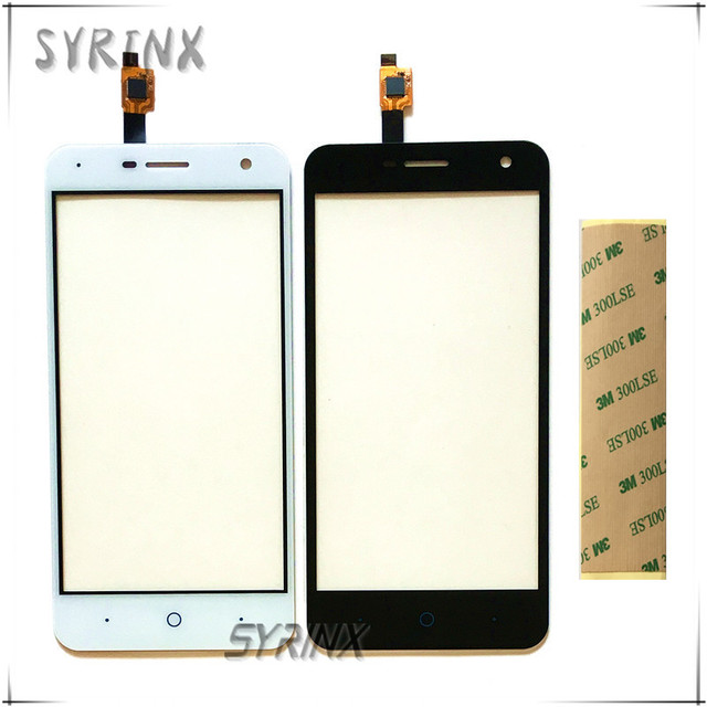 Syrinx 5.0 inch + 3M Tape Touchscreen For ZTE Blade L4 Pro A465 Touch Screen Front Glass Sensor Panel Digitizer Free shipping