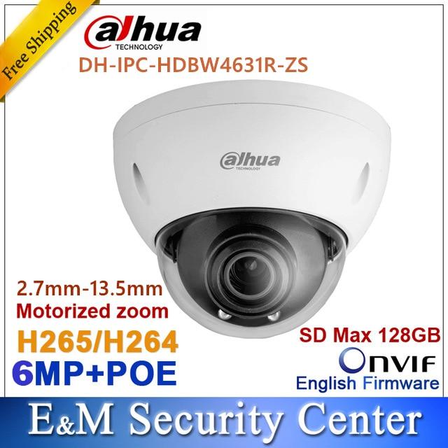 Original Dahua IPC HDBW4631R ZS IP Camera 2 7mm 13 5mm VF motorized lens 6MP IR
