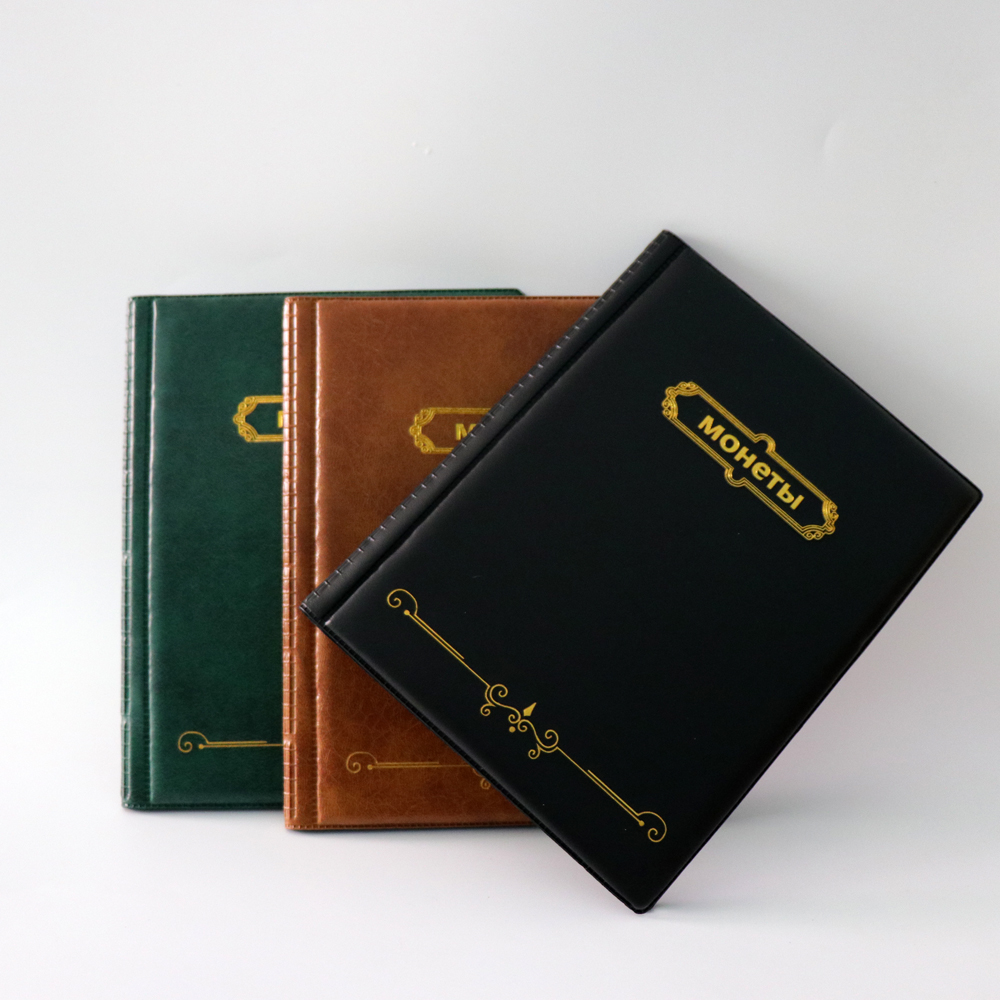 2019 version russian album for coins. 10 pages 250 pockets units coin collection book for coin holders coin album, photo album