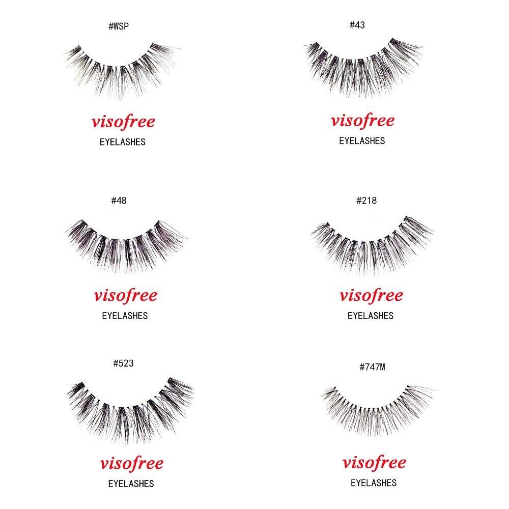 Visofree Lashes Crisscross Eyelashes 100% Human Hair Handmade False Eyelashes Messy Nature Eye Lashes Maquiagem Cilios