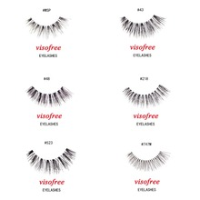 visofree lashes wispie eyelashes 100% Human Hair Handmade False Eyelashes Messy Nature Eye Lashes maquiagem cilios