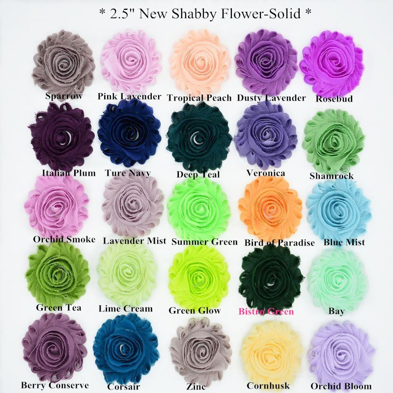 30 yards/ lots , 2.5'' frayed shabby chiffon flower  , shabby flower for headwear apparel fashion accessories-in Hair Accessories from Mother & Kids    2