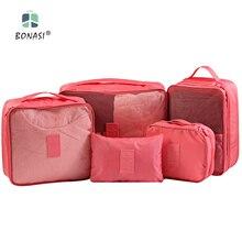2016 Newest 5 Pcs/Set Waterproof  Double Layers Travel Bag Pouch Shoes Bags Portable Tote Case Women Men Clothes Wash Bag