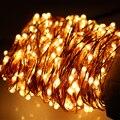 Warm White 20 M/30 M/50 M Led Prata/Fio de Cobre 200/300/500 Estrelado Luzes LED Seqüência de Luz com Adaptador de Energia (REINO UNIDO, EUA, UE, AU Plug)