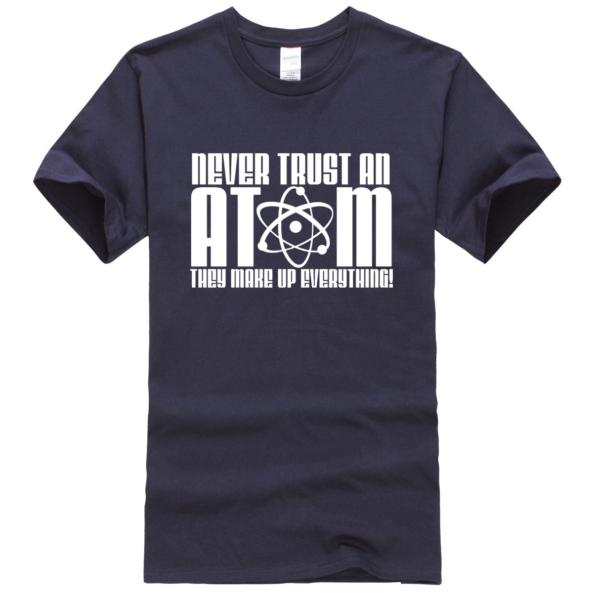 2019 T-shirt summer men' s T-Shirts Never Trust an Atom letter printed brand clothing crossfit kpop hip hop free shipping tops