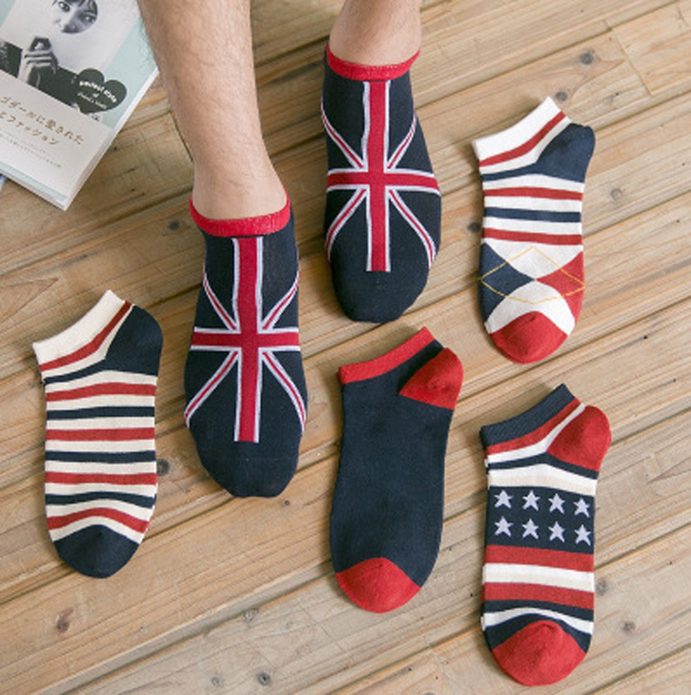 Mens Socks Casual Work Business Cotton Stripe Series Fashion Sock Comfortable W709