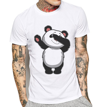 цены New Mens T Shirts Fashion Cotton Short Sleeve O Neck T-Shirt Cartoon Funny Cute Panda Print Hipster Men Tees Playeras De Hombre