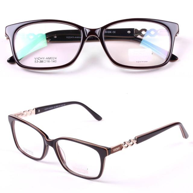 Acetato de Gafas de Marca Marco Mujeres Ocular Óptico Gafas de Diseño Gafas De Sol De Las Gafas de La Miopía