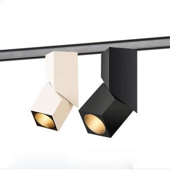 Fanlive 6 stücke 7W 10W 15W 20W Oberfläche Montiert LED Downlights Für Home 220v 360 grad Roatatable COB Decke Downlight 110v