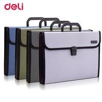 Deli 1pcs portable organ bag A4 expanding wallet file office service data package document folder storage bag 5555