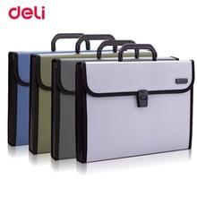 Deli 1pcs portable organ bag A4 expanding wallet file office service data package document folder storage 5555