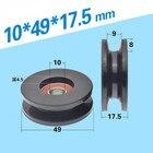 ★  1 шт. 10   49   17 5 мм U-образное нейлоновое колесо 6000 шкив подшипника  ролик фитнес-оборудования ★