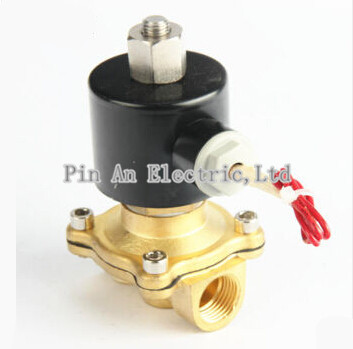 free shipping g3 4 stainless steel solenoid valve 2w200 20 no normally open for acid water air oil dc12v dc24v ac110v 2W200-20K Electric Solenoid Valve Water Air N/O 220V AC 3/4 Normally Open Type 2W200-20K 12V 24V 220V