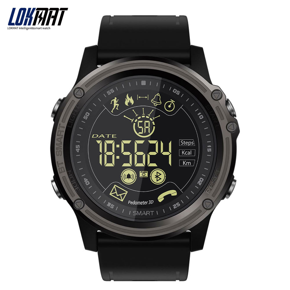 LOKMAT Men Sport Smart Watch 5ATM Waterproof Bluetooth Pedometer Message Reminder digital Clock SmartWatch for ios and android сетевой фильтр apc pm1wb rs black
