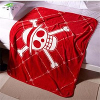 150X120cm Japan anime comic One Piece STRAW HAT CREW skull blanket on the bed throw blanket luffy bed sheet quilt cosplay Kids