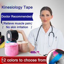 Relieve Muscle Pain Kinesiology Tape Roll Sports Safety Elastic Spandx Elastoplast Athletic Recovery Fitness Waterproof Cotton 7pcs lot kinesiology tape physical therapy sports bandage recovery athletic fitness protector knee pain muscle elastic strap