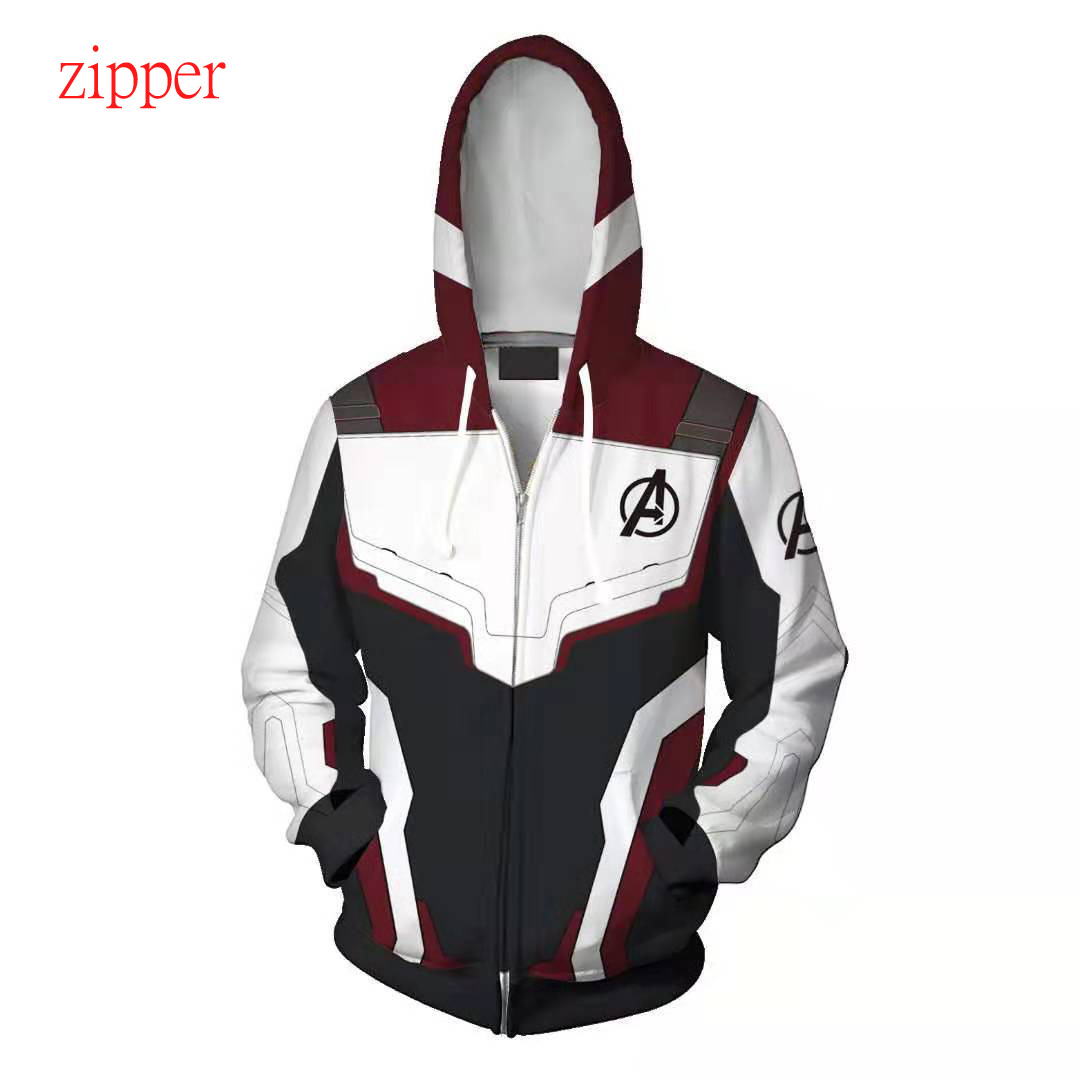 Avengers Endgame Cosplay Quantum Realm Costumes Sweatshirt Hoodie Jacket Captain Marvel Tech Hooded Superhero America Zipper in Hoodies amp Sweatshirts from Men 39 s Clothing