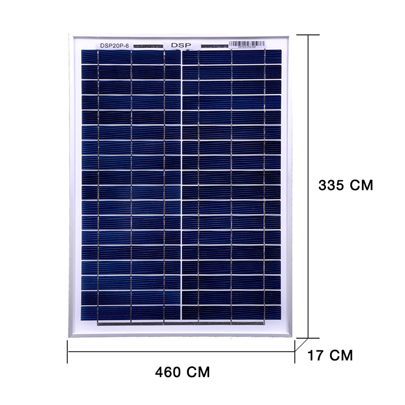 Image 2 - DOKIO 18 Volt 12V 20Watt Small Solar Panel China Waterproof Panels Solar Sets Cell/Module/System/Home/Boat 10A 12/24V Controlle-in Solar Cells from Consumer Electronics