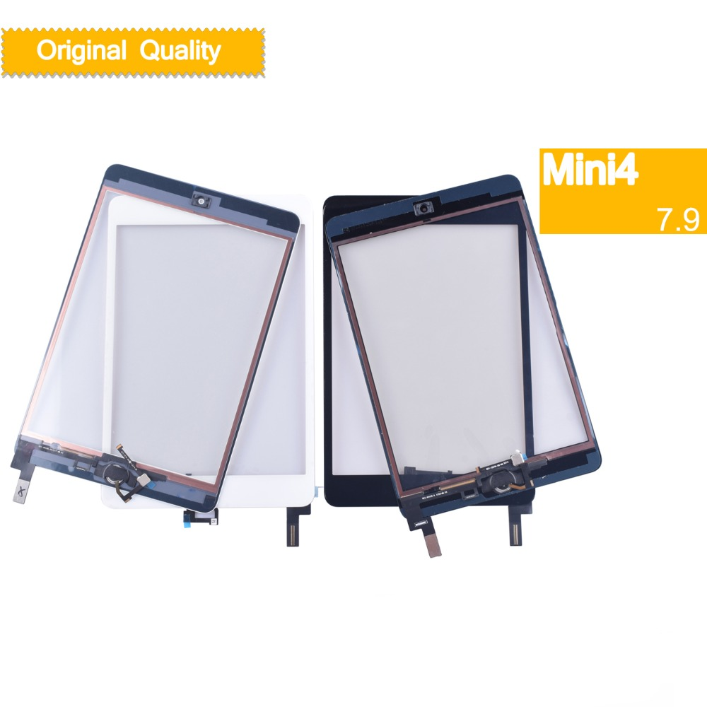 10Pcs/lot ORIGINAL For Apple iPad Mini 4 Touch Screen Digitizer Panel A1538 A1550 Touchscreen with Home Button