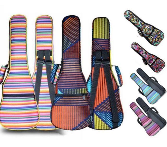 """21""""23""""26"""" Ukulele Bag Cotton Padded Bag Gig Bag Guitar Case For Hawaii Small Guitar Musical Instruments Children Uke Bag"""