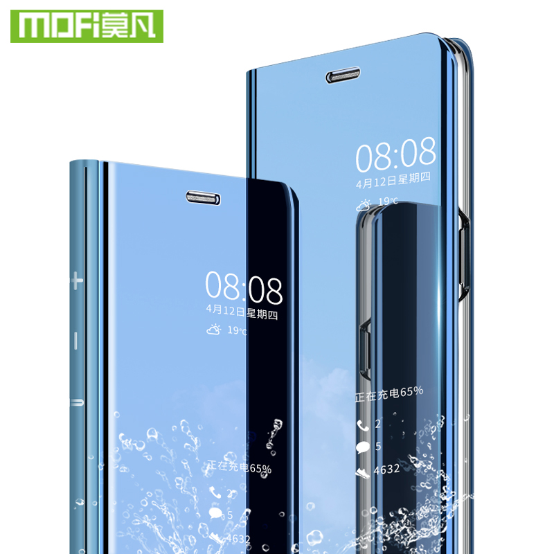 For Xiaomi Redmi Note 6 Pro case smart cover clear mirror glass view Note6 filp For Xiaomi Redmi Note 6 Pro case 360 shockproof