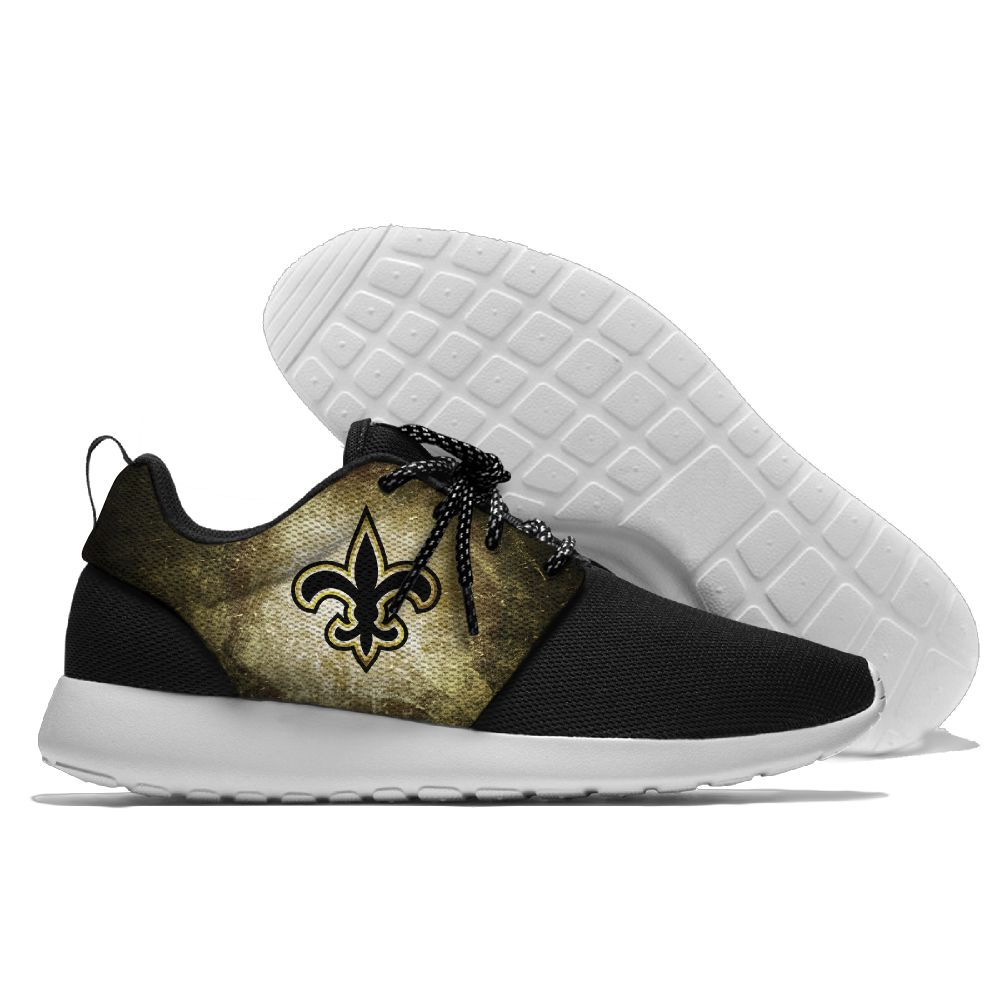 Runing men and women Saints Walking Shoes light weight San Diego shoes summer Confortable New Orleans fans shoes new orleans saints garden gnome 11 thematic