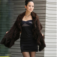 Fashion New Arrival Genuine Mink Fur Shawl Winter Warmer Lady Luxurious Stole Hot Sale OEM Wholesale