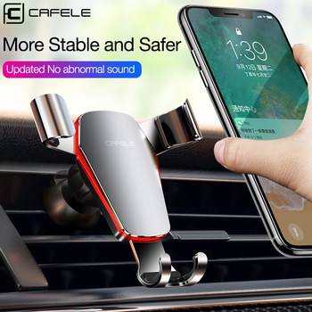 CAFELE Gravity Car Phone Holder Air Vent Monut Stand Holder For Phone in Car No Magnetic Support GPS for Huawei IPhone X 11 pro image