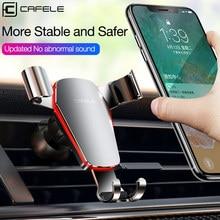 CAFELE Gravity uchwyt samochodowy na telefon odpowietrznik Monut stojak uchwyt na telefon w samochodzie nie namagnesowany wsparcie GPS dla Huawei IPhone X 11 pro
