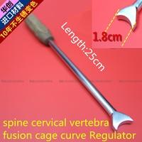 medical orthopedic instrument spine cervical vertebra PEEK fusion cage curve Regulator neck Semicircle angle Adjustment tool AO