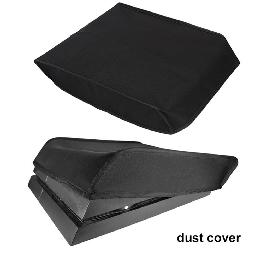 Cewaal Dust Sleeve Dust Protector Nylon Black Console Video Game Accessories Horizontal/Vertical For PS4 Pro