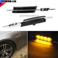 Auto LED side birne,///M Stil Glas Seitenmarkierungsleuchten w/Bernstein Led-leuchten für BMW E90 E92 E60 E81 E87 F30 1 3 5 Serie, etc