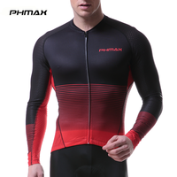 PHMAX Long Sleeve Cycling Jersey Men Summer Breathable MTB Quick Dry Bike Jersey Bicycle Shirts Bike Clothing Cycling Sportwear
