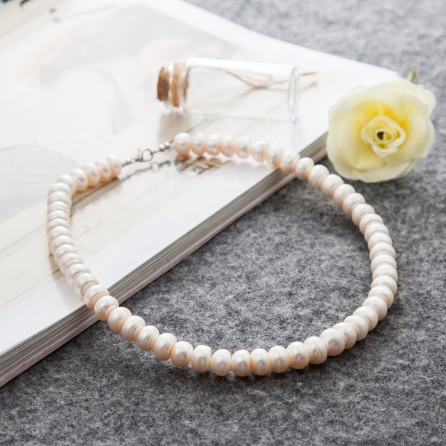 High Quality Pearl Jewelry Women Accessories Choker Necklace Wedding Anniversary Gifts Collier Collares Mujer Bijoux