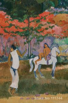 Femme et cheval blanc Paul Gauguin famous paintings oil canvas reproduction High quality Hand painted