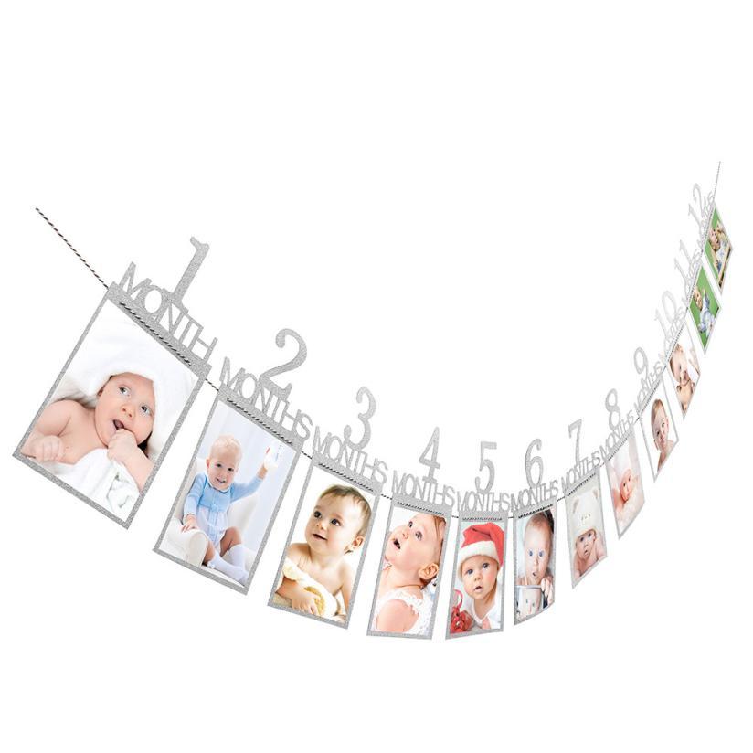 Крафт-бумага для малышей подарок на день рождения украшения 1-12 месяцев Фото баннер День рождения украшения Дети ежемесячно фото стены