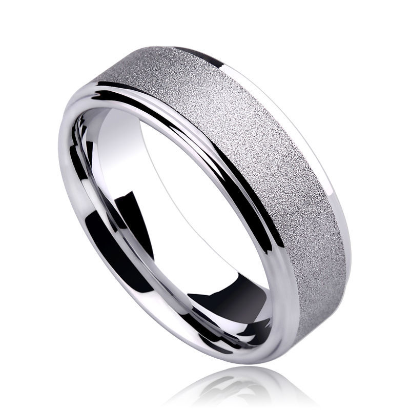 цены New Fashion 7mm Width Comfort Fit Tungsten Rings for Man Brushed the Surface Scratch Proof Size 7-11 Free Shipping