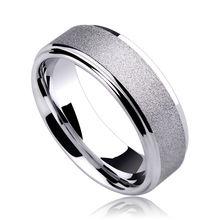 Nueva moda 7 mm ancho Comfort Fit anillos de tungsteno para hombre cepillado de la superficie a prueba de arañazos tamaño 7-11 el envío gratis