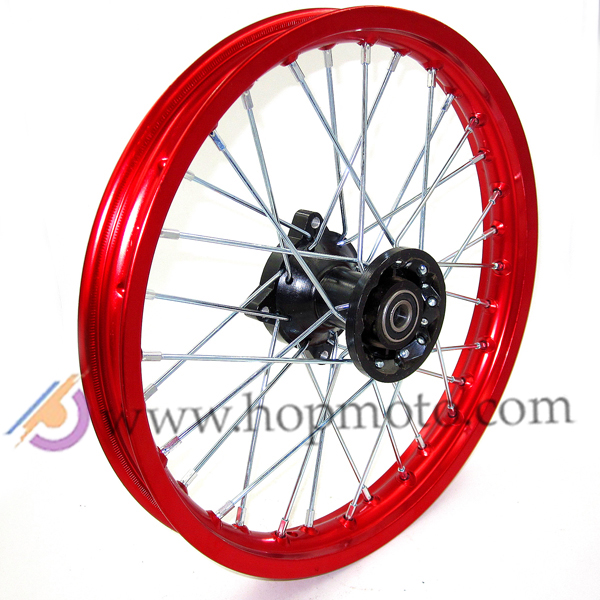 Red colour <font><b>14</b></font> Inch <font><b>Rims</b></font> <font><b>14</b></font>'' 12mm or 15mm AXLE Front Red <font><b>Rim</b></font> for Dirt Bike Thumpstar Assassin Atomik Pit Pro image