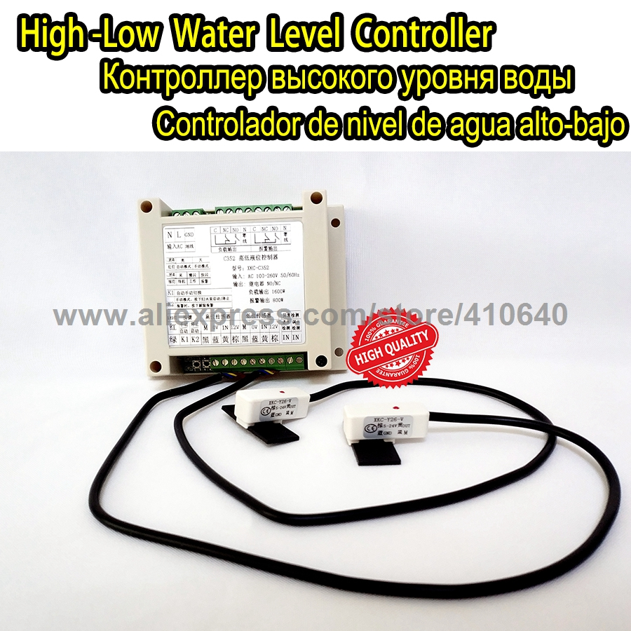 Automatic Level Switch Controller For Water Tank Non Contact Water Pump Level Monitor Controler Water Container Level Controller water shortage protection full automatic water level controller df 96b df 96d df 96a level 12v24v380v note model