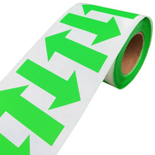 2019 New Trend 500/roll Arrow Stickers Fluorescent Green Shape Color Coding Inventory Labels 2 X 1.25 Inch Self-adhesive Label december fluorescent paper labels 500 labels roll 3 x 2