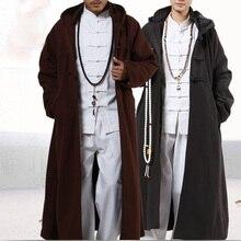 4 цвета, зимняя теплая накидка в стиле буддийских монахов Шаолинь, плащ для медитации, костюмы, пальто, пальто, одежда для воин кунг-фу