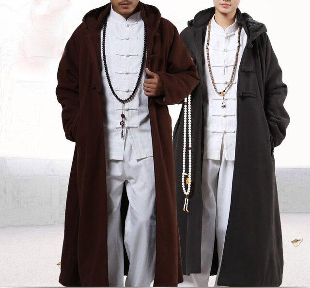 4 kolor zima ciepłe buddyjskie mnichów shaolin cape medytacja płaszcz garnitury płaszcz lay abbot nun kung fu sztuki walki szata odzież