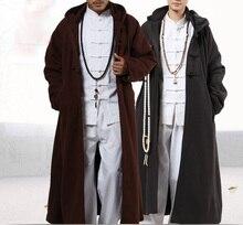 Capa de Meditación Budista shaolin, abrigo cálido de 4 colores, ropa de túnica artes marciales de kung fu