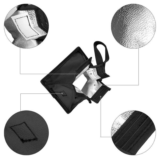 Universal Flash Diffuser Light Softbox Collapsible Speedlite Translucent Soft Box with Carry Bag For DSLR Camera Speedlights 4