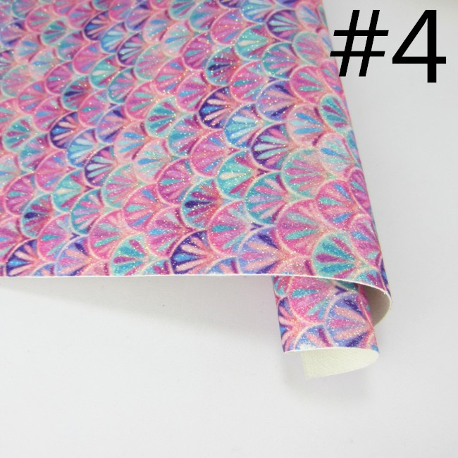 A4 Mermaid Scales Fine Glitter Fabric Sheets for Crafts /& Bows