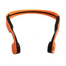 Condução Óssea fone de Ouvido Estéreo Bluetooth sem fio À Prova D' Água com Microfone Fone De Ouvido Cor: Laranja