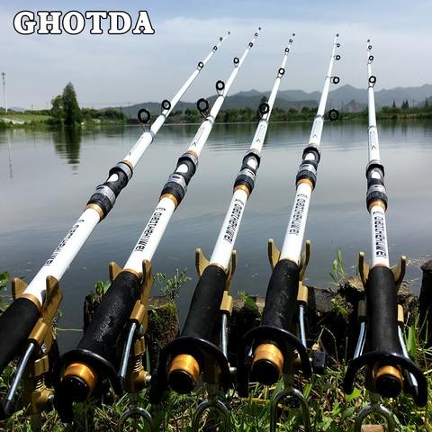 ghotda 2 1 m 3 6 m alimentador de vara de pesca carpa duro frp