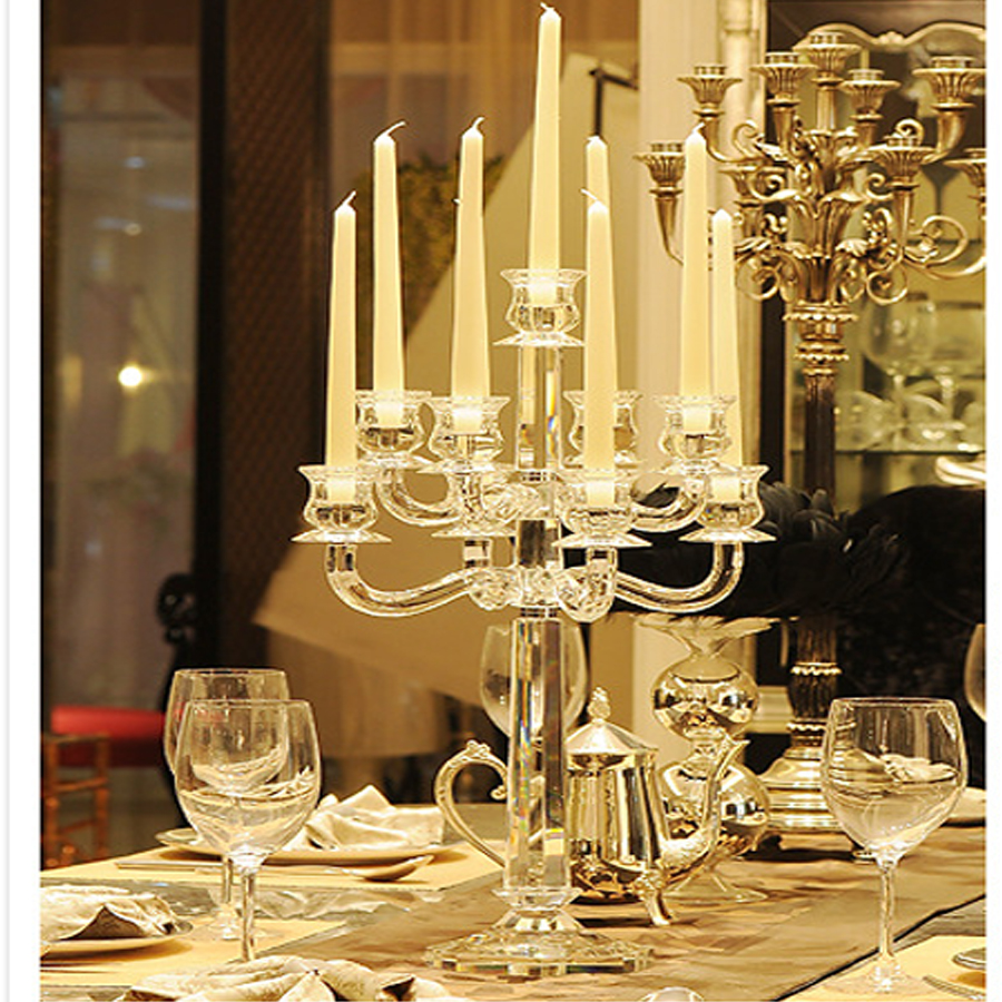 Buy wholesale crystal candlestick luxury for Where can i buy wedding decorations